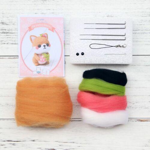 Dog Wool Felt Craft DIY Unfinished Poked Set Handcraft Needle Material Bag
