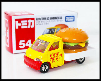TOMICA TOYOTA TOWN ACE HAMBURGER CAR 1//64 TOMY 54 green