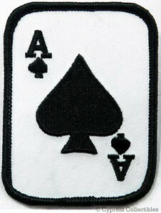 ACE-of-SPADES-iron-on-PATCH-texas-hold-039-em-POKER-PLAYING-CARD-embroidered-emblem