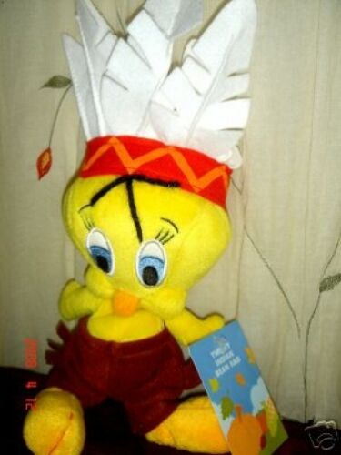 TWEETY INDIAN WARNER BROTHERS BEAN BAG PLUSH RETIRED