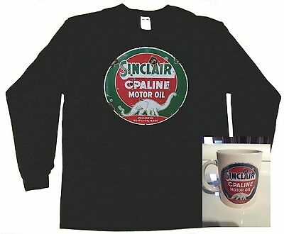 Mobil  1 Rusty gold Sinclair Gas sign T Shirt COFFEE MUG COMBO DEAL Skelly