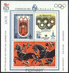 Uruguay 1979 Mi BL 41 ** Olimpiada Olympiade Olympics Horse Pferd Taube Pigeon -  Dabrowa, Polska - Uruguay 1979 Mi BL 41 ** Olimpiada Olympiade Olympics Horse Pferd Taube Pigeon -  Dabrowa, Polska
