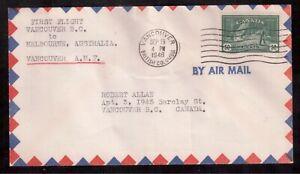 CANADA-1946-FIRST-FLIGHT-COVER-272-VANCOUVER-CANADA-MELBOURNE-AUSTRALIA