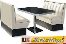 HW-120OW Set American Dinerbank Sitzbank Diner Bänke Möbel 50´s Retro USA Style