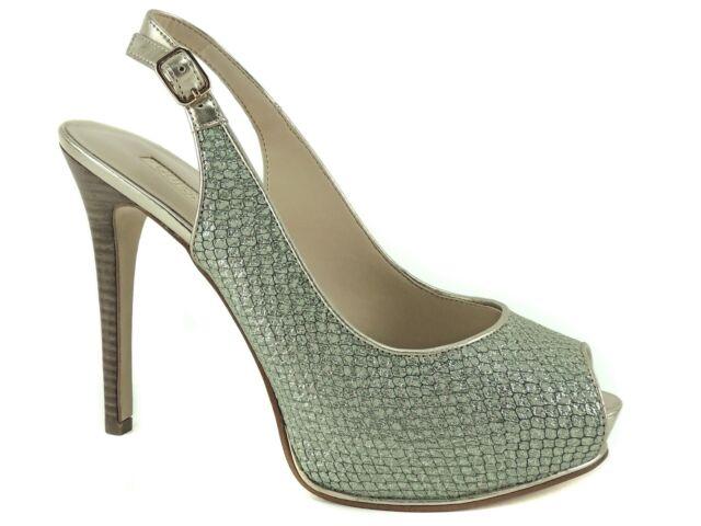 5449f176384 GUESS Women s Huela Platform Pumps Mint Snake Print Leather Size 8.5 M