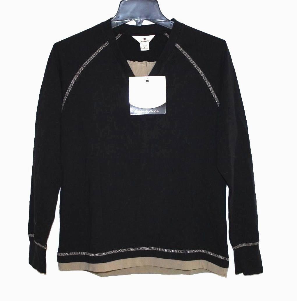 Woolrich - S - Nuova con Etichetta - Nero & Beige 100% Cotton Abbigliamento