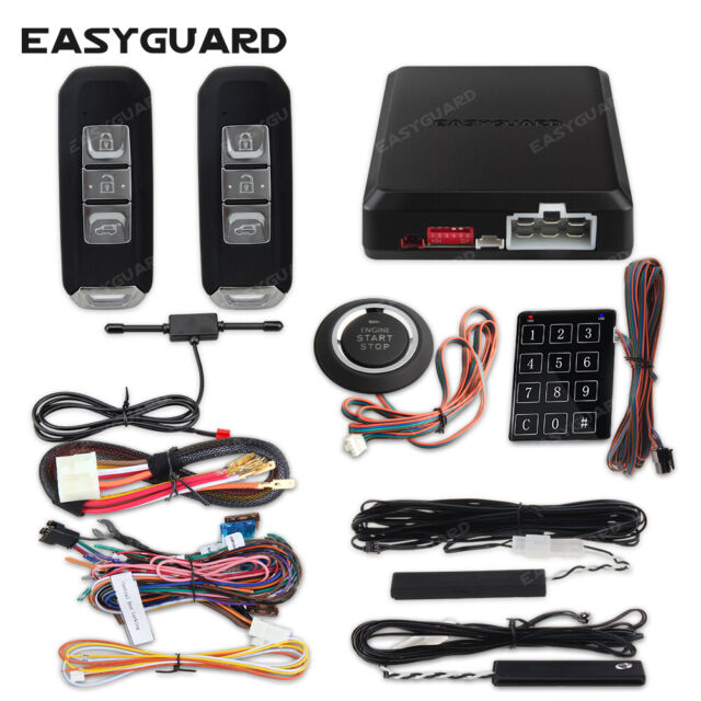 Easyguard Car Alarm System Auto Remote Start Push Button Pke Keyless Entry Alarm