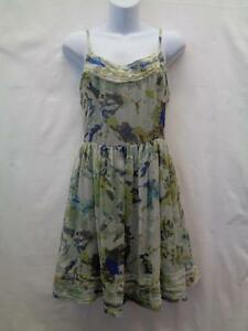 Willow-Clay-Medium-Anthropologie-Dress-Green-Blue-Gray-Womens-Geometric-Lined