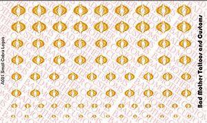 G.I 1//18 Scale Custom Waterslide Decals Joe Cobra Logos METALLIC GOLD