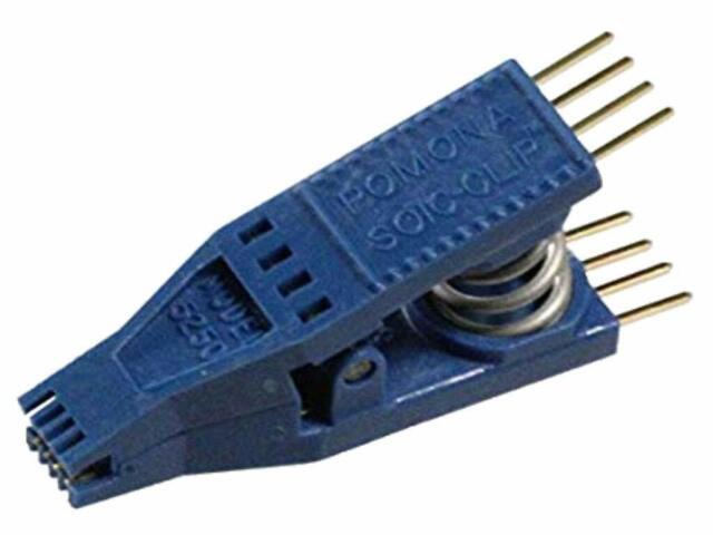 1.27 mm Pomona 5250 Test Clip 8 Pos soj//soic