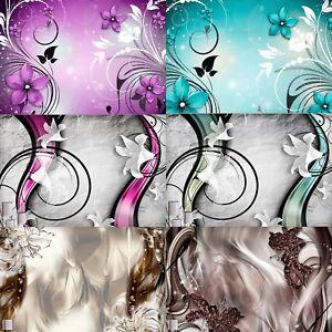 Details Zu Vlies Fototapete Abstrakt Blumen 3d Tapete Wandbilder Xxl Wohnzimmer 12 Farbe