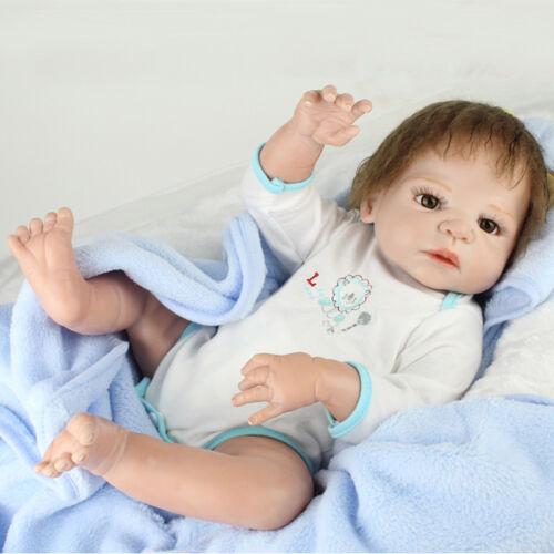 22/'/' Reborn Baby Doll Newborn Full Body Vinyl Silicone Lifelike Boy Dolls 2019