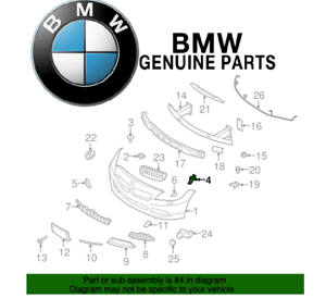 For BMW Z4 09-16 Driver Left Front Bumper Side Support Genuine 51117192157