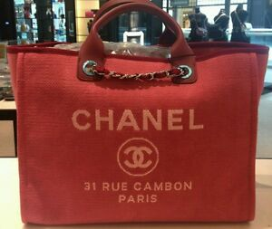 f552276409af Image is loading Chanel-Deauville-Large-Tote-SOLD-OUT-in-stores