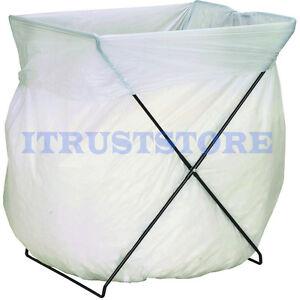 Trash Bag Stand Holder Laundry Frame Metal Recycling Folding 5