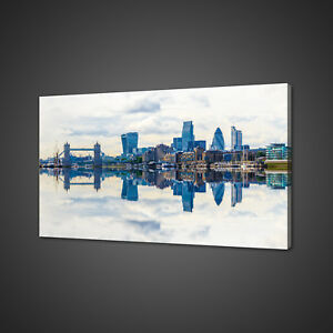 Image Is Loading Panoramic View Of London Canvas Picture Print Wall