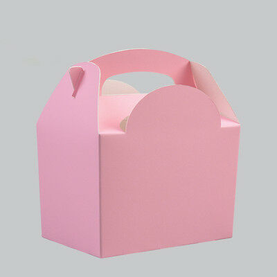 Light Baby Pink Childrens Kids Carry Birthday Party Food Loot Favour Bag Boxes