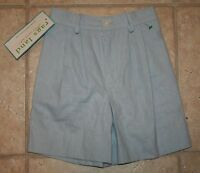 Rags Land Ragsland Boys Girls 3/4 Barely Blue Linen Pleated Shorts
