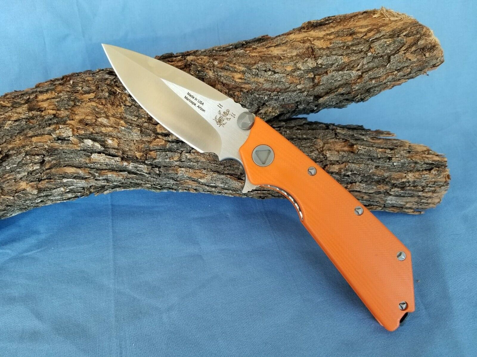 "Angry Anchor Knife and Tool AAKT ""DEVIL DOG"" Autumn G10 CTS-XHP made in USA"