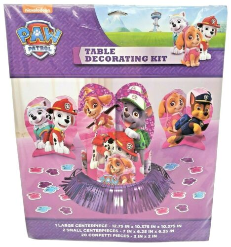 PAW PATROL TABLE DECORATING KIT Girls Birthday Party Supplies Centerpieces-NEW