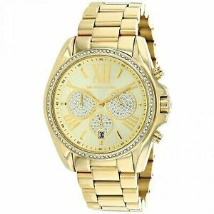 order authorized site free shipping Michael Kors Bradshaw Chronograph Pave Crystal Glitz Watch 43mm MK6538