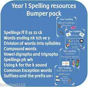 YEAR-1-SPELLING-Bumper-Pack-KS1-English-2014-primary-teaching-resources-on-CD