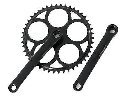 Black Fixie Crankset Crank Single Speed Crankset 44T