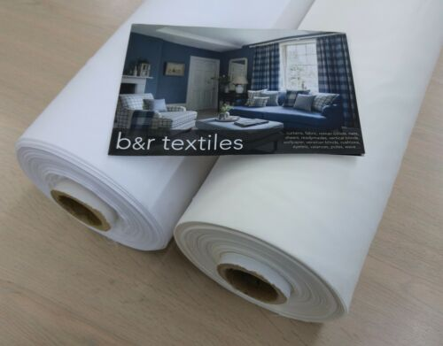 """35 Metre Roll Double Width Quality Lining White /& Cream//Ivory 108/"""" Wide LINING"""