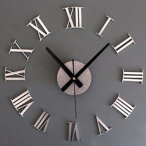DIY-3D-Wall-Clock-Roman-Numeral-Metallic-Mirror-Stick-On-Clock-Home-Art-Decor