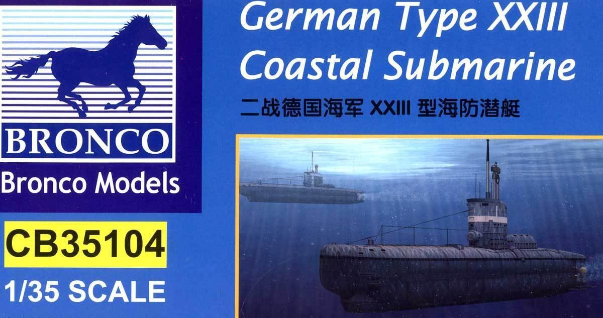 Bronco - German U-Xxiii Coastal Submarine Küsten-u-boot 1 3 5 Model Kit Set