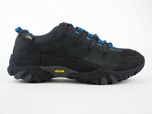 Details about Mens Timberland Varston Low FL GTX 9052A Black Leather Lace Up Trail Shoes