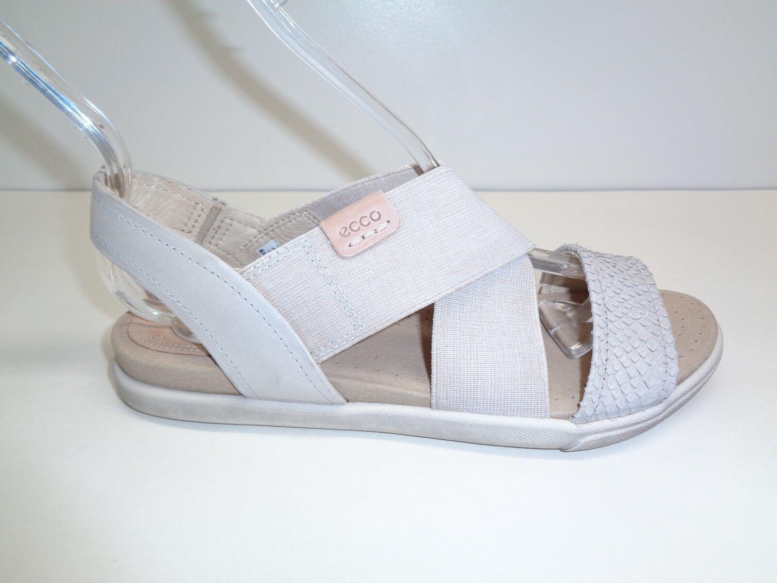 Ecco Größe 5 to 5.5 DAMARA 2-STRAP Moon Rock  Leder Sandales NEU Damenschuhe Schuhes