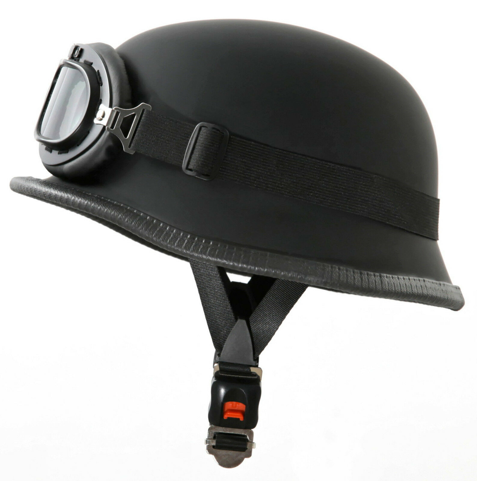 Fahrradhelm + Fliegerbrille Radhelm Helm black matt Größe S Wehrmacht