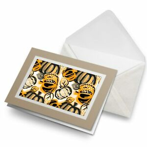 Greetings-Card-Biege-Orange-Pumpkin-Pattern-Halloween-24076