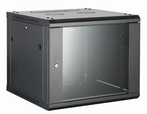 9U Wall Mounted Server Cabinet 600 (W) x 600 (D) Glass Front Door