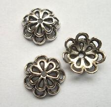 30pcs beautiful Tibet silver Flower End Beads Caps 4x15mm