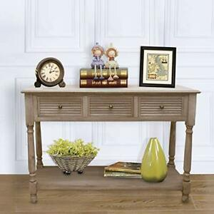 Admirable Details About Console Table For Entryway Antique Sofa Table With Drawer Farmhouse Easy Assmble Caraccident5 Cool Chair Designs And Ideas Caraccident5Info