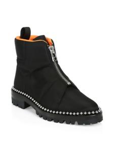 distribución global Alexander Wang Cooper Cremallera Frontal Tachonado botas al al al tobillo Botines (8)  alta calidad
