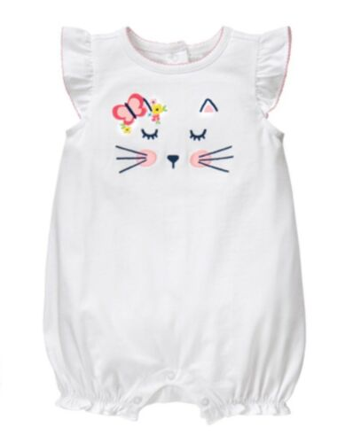NWT Gymboree Meow /& Roar Kitty Butterfly Romper Outfit Girls 12-18 M