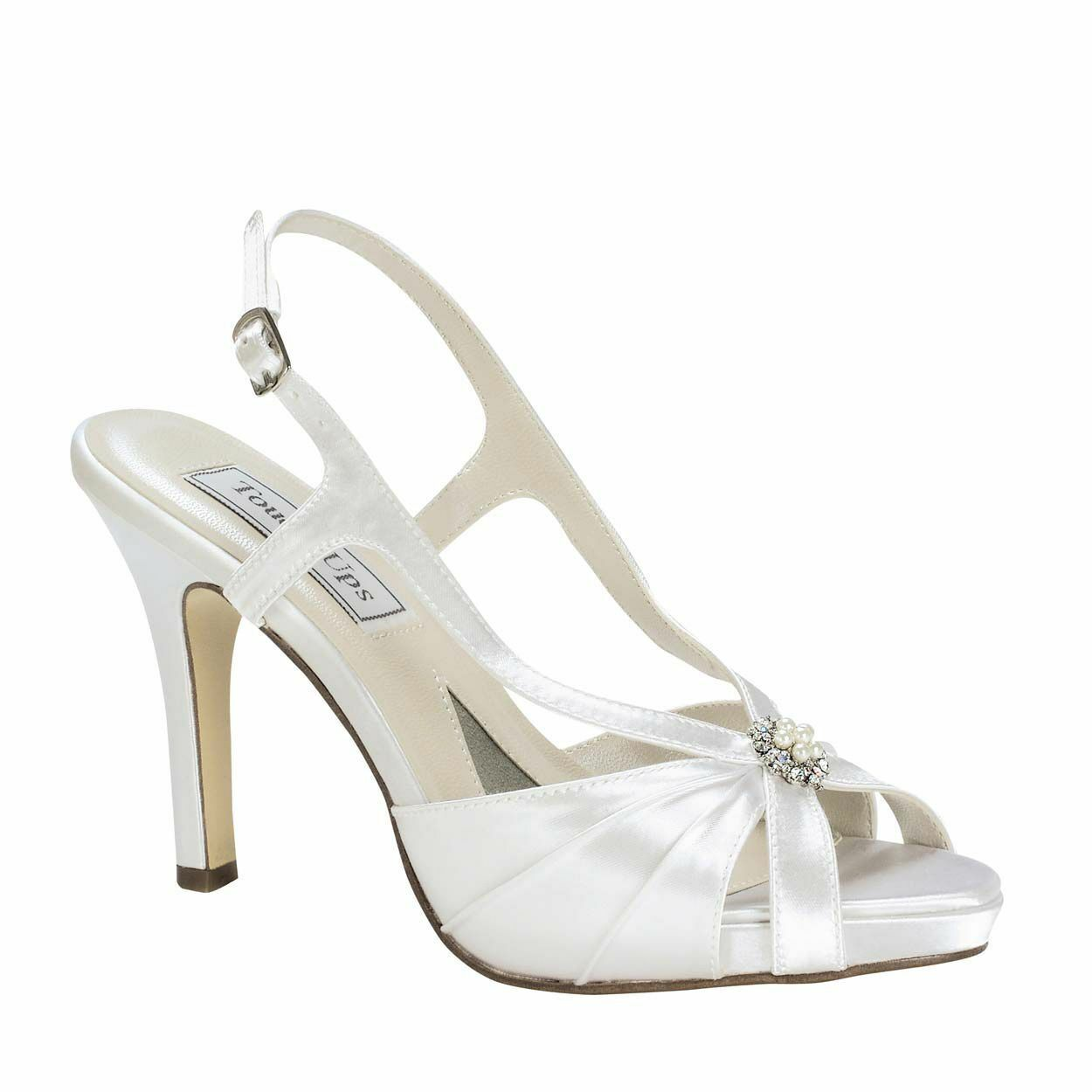 donna's donna's donna's Touch Ups Brie Mid Heel Platform Sandal bianca Dimensione 6.5  NCM2G-M55 ff8865
