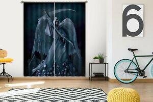 3D-Dark-Death-Scythe-Wing-R732-Window-Photo-Curtain-Printing-Fabric-Vincent-Amy