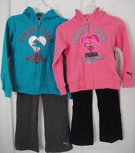 f14de4b133e7 PUMA NWT 2PC Track Suit Sweat Shirt Top Jacket Hoodie Pants Warm Up ...