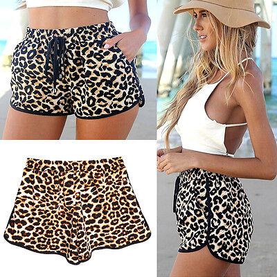 Lady's High Waist Shorts Summer Casual Shorts Short MINI Pants Size (UK 6 18)