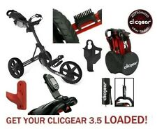 LOADED! New Clicgear 3.5 Golf Push Cart + Extras! Save Over $30 Charcoal/Black