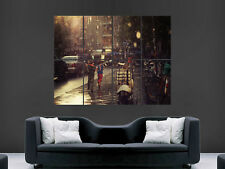 VESPA SCOOTER BIKE  CLASSIC RAIN GIANT WALL POSTER ART PICTURE PRINT LARGE HUGE
