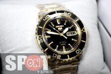 Seiko 5 Sports Black Dial Gold Plated Men's Watch SNZH60K1 SNZH60