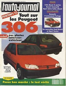 L-039-AUTO-JOURNAL-1992-N-16-Peugeot-306-106-Renault-Twingo-Opel-Astra-Ford-Escort