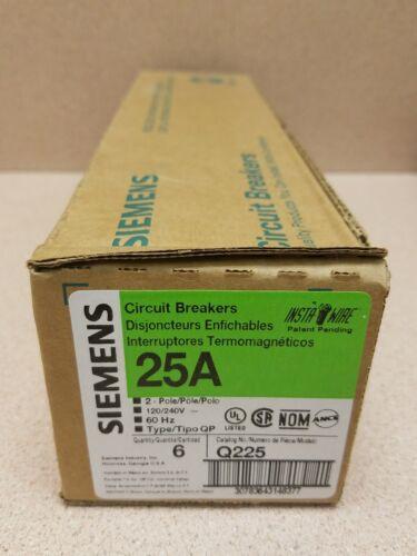 NEW Siemens Q225 Circuit Breaker  QP225  2P 25 AMPS