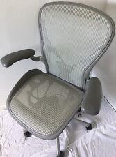 Herman Miller Aeron Titanium Silvergrey Posturefit Mesh Chair Large Size C