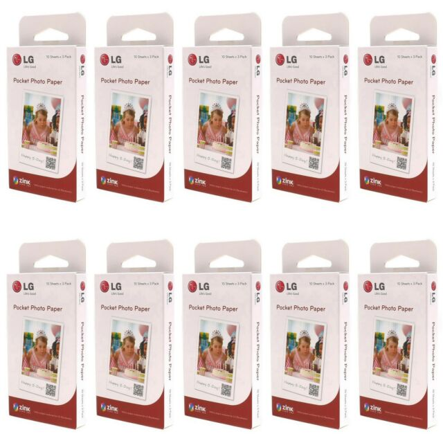 LG Zink Pocket Photo Paper Film 300 Sheets PS2203 For Printer PD221 PD233 PD239